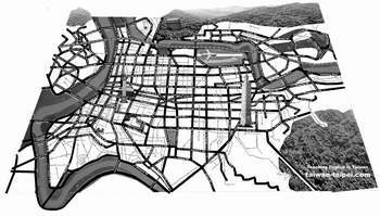 map of Taipei black and white for copymachine