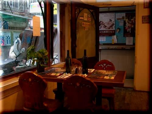 greek restaurant entrance