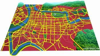 taipei map preview red